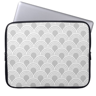 Art Deco Great Gatsby Style Mod Shell Pattern Laptop Sleeve