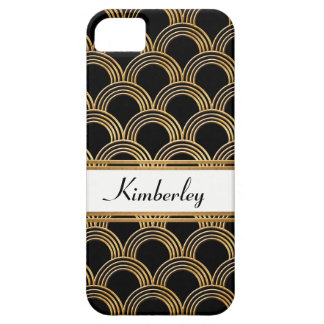 Art Deco Great Gatsby Style Shell Faux Gold iPhone 5 Covers