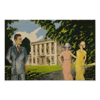 Art Deco Greenway House Poster