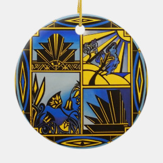 Art Deco hanging ceramic ornament