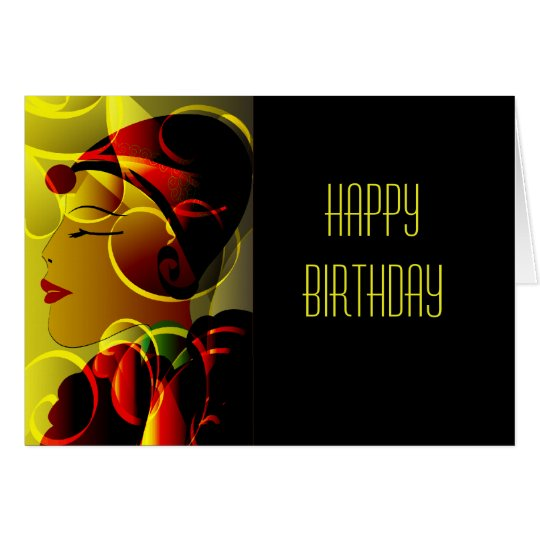 Art Deco Happy Birthday Card