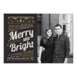 Art Deco Holiday Photo Card Invitations