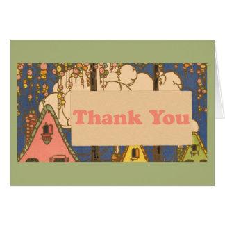 Art Deco House Thank You Card - Realtor or Lender