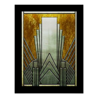 Art Deco Iconic Poster. Poster