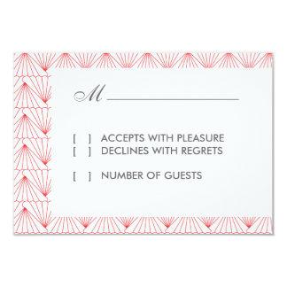 Art Deco II Modern RSVP Card 9 Cm X 13 Cm Invitation Card