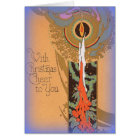 Art-deco image shining a light on Christmas Card