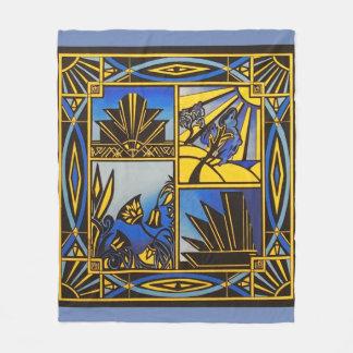 Art Deco in Blue Medium sized blanket