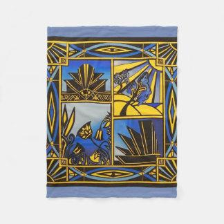 Art Deco in Blue small blanket