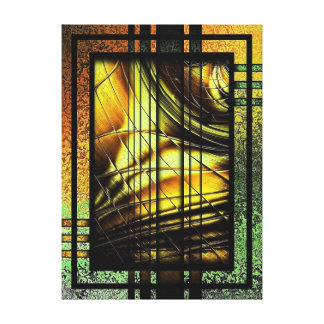 Art Deco In Green And Gold Canvas Print