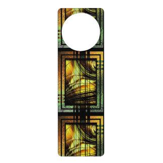 Art Deco In Green And Gold Door Hangers