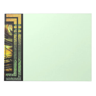 Art Deco In Green And Gold Notepad