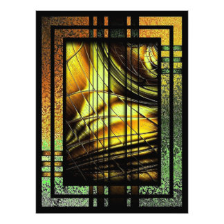 Art Deco In Green And Gold Photo Print