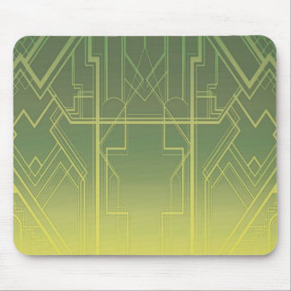 Art Deco in Greens Mousepad