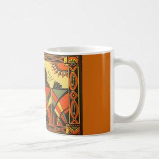 Art Deco in Orange classic mug