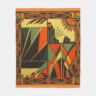 Art Deco in Orange Medium sized Blanket