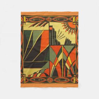 Art Deco in Orange small blanket
