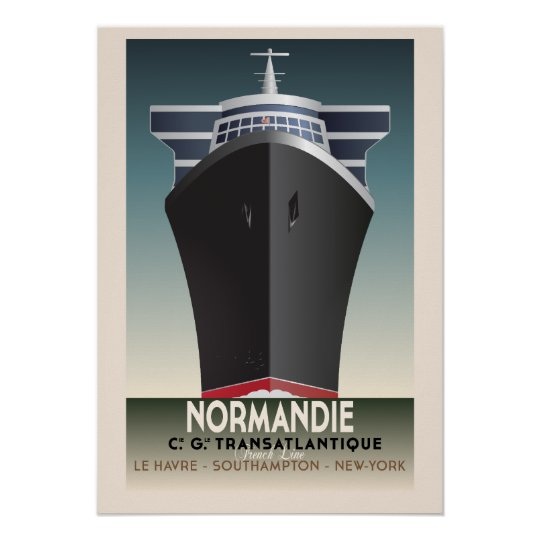 Art Deco Inspired Cruise Poster