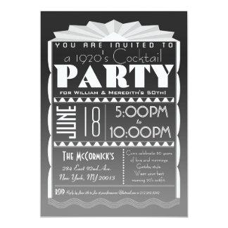 Art Deco Invitation - Gatsby Style- Custom Text