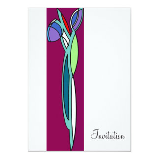 Art Deco Iris  - CP Invitation