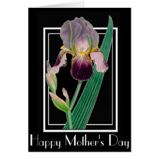 ART DECO IRIS MOTHER'S DAY GREETING CARD