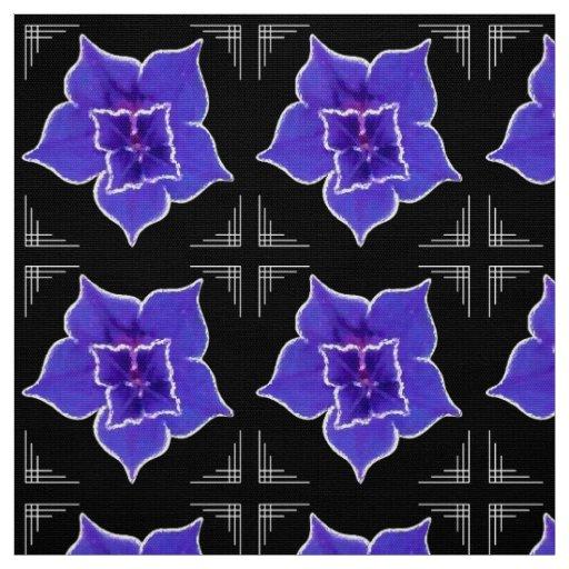 Art Deco-ish Morning Glory - Purple on Black