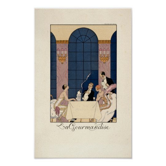 "Art Deco ""La Gourmandise"" by George Barbier Poster"