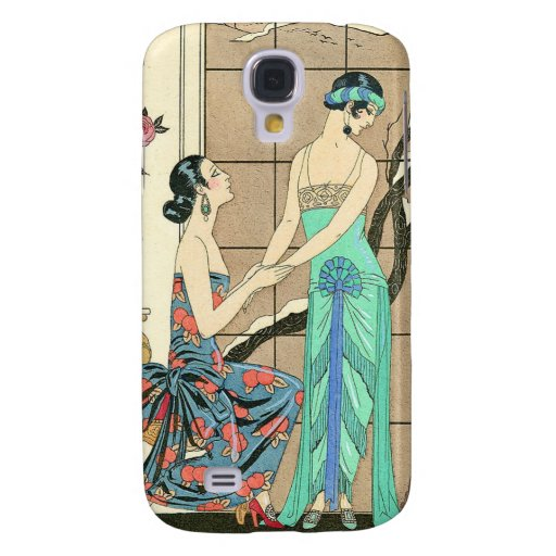 Art Deco Ladies By the Window HTC Vivid Cover