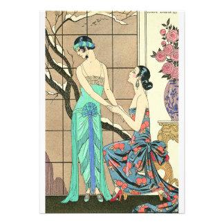Art Deco Ladies By the Window Invitations