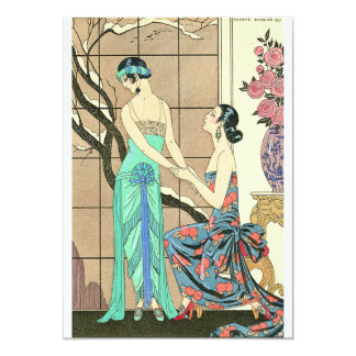 Art Deco Ladies By the Window Invitations