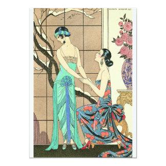 "Art Deco Ladies By the Window Invitations 5"" X 7"" Invitation Card"