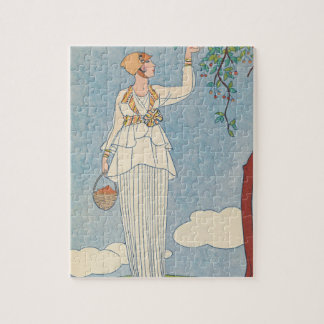 Art Deco Lady - Harvesting fruit. Puzzle