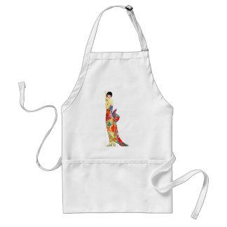 Art Deco Lady in formal Gown Standard Apron