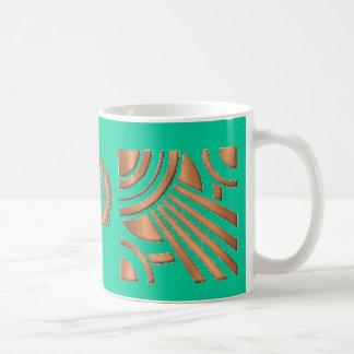 Art Deco Lady Basic White Mug