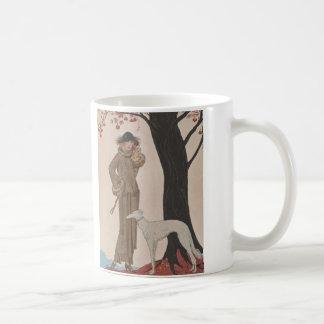 Art Deco Lady - Standing beside the tree. Coffee Mug