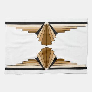 Art Deco Layers in Tan Tea Towel