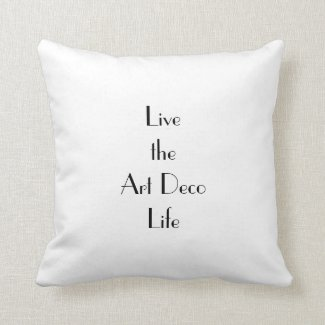 Art Deco Life Typography Cushion