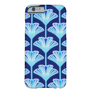 Art Deco Lily, Cobalt Blue, Aqua and White Barely There iPhone 6 Case
