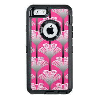 Art Deco Lily, Fuchsia Pink and Silver Gray OtterBox iPhone 6/6s Case
