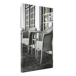 Art Deco Lloyd Loom Chairs Canvas Print