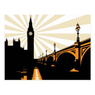Art Deco London Postcard