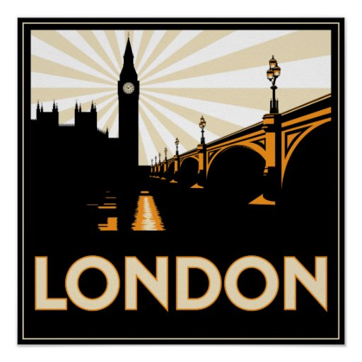 Art Deco Posters - Art Deco London Poster Rab A Abd Fa Cc 3A Wvp Byvr