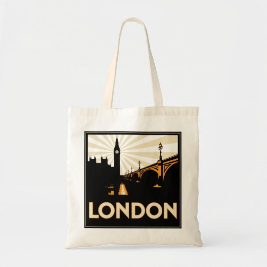 Art Deco London Shopping Bag