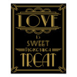 Art Deco Love is sweet print
