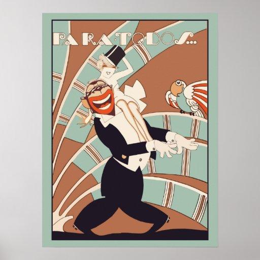 Art Deco Magazine Cover Cabaret Poster