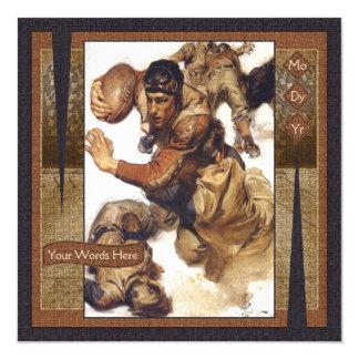 Art Deco Man Rugby Football Card