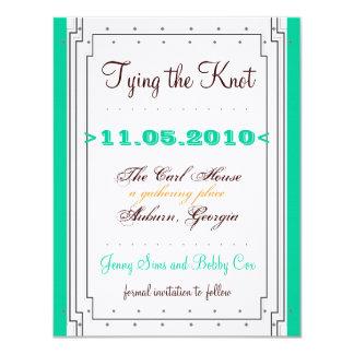 Art Deco meets Timeless Design by Jenny 11 Cm X 14 Cm Invitation Card