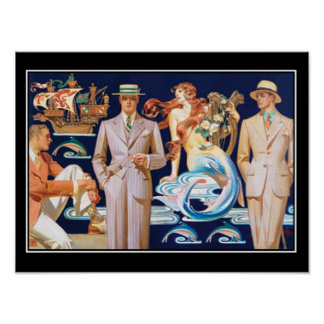 Art Deco Mens Fashion Vintage Poster