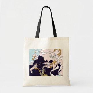 Art Deco Mermaids Tote Bag