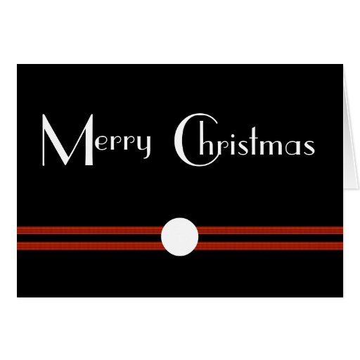 Art Deco Merry Christmas Card
