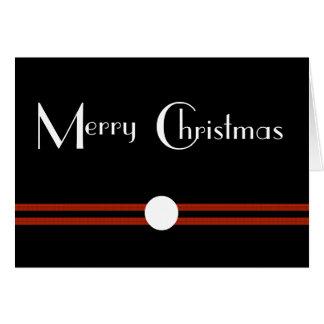 Art Deco Merry Christmas Custom Greeting Card